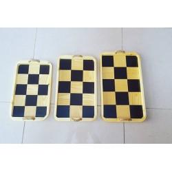 سینی طرح شطرنجی دسته طنابی در سه سایز