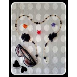 بند عینک مشکی شکوفه